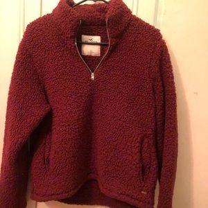 Sherpa Half zip up sweatshirt